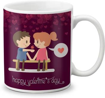 Lof Happy 1st First Valentine S Day Gift For Love My Life Special Girlfriend Boyfriend Wife Husband Cute And Beautiful Best Love Qutation 044 Ceramic Mug Price In India Buy Lof Happy 1st First Valentine S