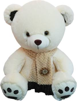 Cute Lamb Stuffed Animals, My Baby Excels Bear Plush Beige Colour With Printed Scarf 50 Cm 50 Cm Bear Plush Beige Colour With Printed Scarf 50 Cm Buy Bear Toys In India Shop