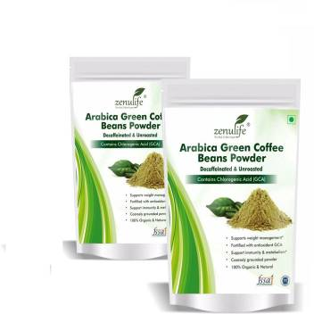 Zenulife Green Coffee Beans Powder 100 Gm Pack Of 2 200 Gm