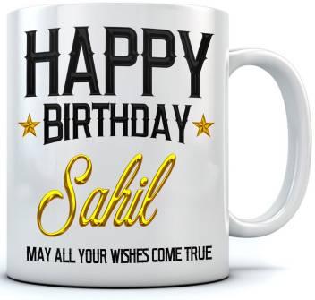 Ramposh Happy Birthday Sahil Name Printed Ceramic Coffee 350 Ml Best Gift For Birthaday Ceramic Coffee Mug Price In India Buy Ramposh Happy Birthday Sahil Name Printed Ceramic Coffee