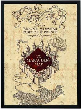 WB Official Licensed Harry Potter Marauders Map Poster A4 ...