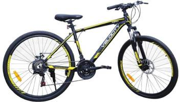Velocity Aero Front Suspension Dual Disc Brake Bike For Adults Black Yellow 26 T Mountain Cycle Price In India Buy Velocity Aero Front Suspension Dual Disc Brake Bike For Adults