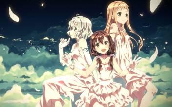Athah Anime Original Long Hair Short Hair Twintails White Hair