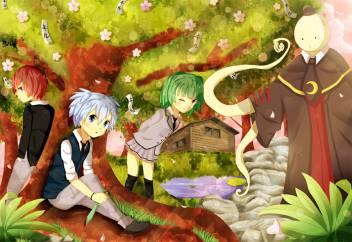 Athah Anime Assassination Classroom Koro Sensei Kaede Kayano Nagisa Shiota Karma Akabane 13 19 Inches Wall Poster Matte Finish Paper Print Animation Cartoons Posters In India Buy Art Film Design Movie