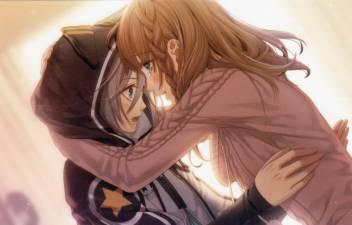 Athah Anime Amnesia Long Hair Brown Hair Green Eyes Braid Hoodie