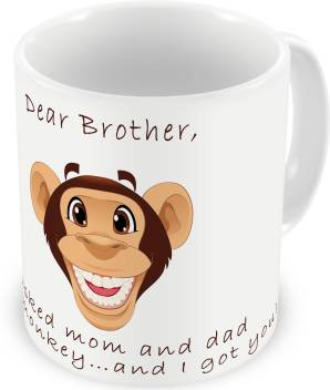 Illuminati Gifts Brother Monkey Funny Quote Rakhi Raksha