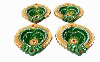 Brothers Creation Diwali Designer Diya Set Of 4 Diya For Home Decor Pack Of 4 Terracotta Pack Of 4 Table Diya Set Price In India Buy Brothers Creation Diwali Designer Diya