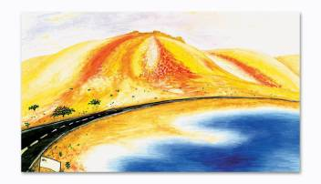 Tamatina Modern Abstract Wall Art Canvas Painting Paintings For Living Room Bedroom Home Dining Room Size 27 15 Oil 15 Inch X 27 Inch Painting Price In India Buy Tamatina Modern