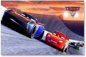 Hollywood Movie Wall Poster Cars 3 Lightning Mcqueen Jackson Storm Hd Quality Movie Poster Paper Print Comics Posters In India Buy Art Film Design