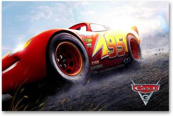 Hollywood Movie Wall Poster Cars 3 Lightning Mcqueen Hd