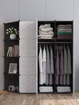 House Of Quirk Storage Organizer 12 Cube 2 Hanger Pp Collapsible Wardrobe Price In India Buy House Of Quirk Storage Organizer 12 Cube 2 Hanger Pp Collapsible Wardrobe Online At Flipkart Com