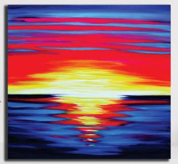 Pixelartz Canvas Painting Abstract Sunset In Neon Colours Without Frame Digital Reprint 35 Inch X 35 Inch Painting Price In India Buy Pixelartz Canvas Painting Abstract Sunset In