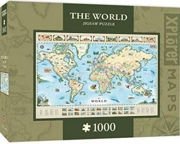 World Map 1000 Piece Jigsaw Puzzle