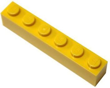 4 x lego 3009 brick 1x6 red new bright new brick red