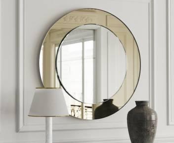 Raj Glass Works Round Golden Decorative Mirror Price In India Buy Raj Glass Works Round Golden Decorative Mirror Online At Flipkart Com