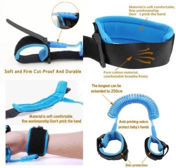 Blue Safety Harness For Toddler Walking Kids Child Restraint Wrist Leash NEW