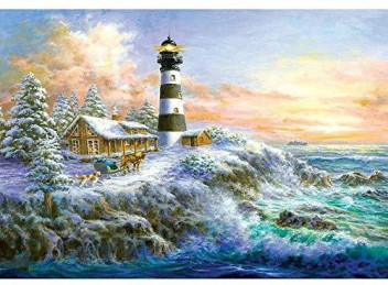 Sea Lighthouse DIY Full Drill Diamond Painting Embroidery Kit 5D Cross Stitch