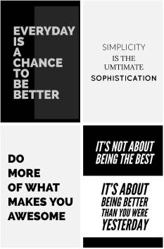 Combo Pack Of 4 Top Best Motivational