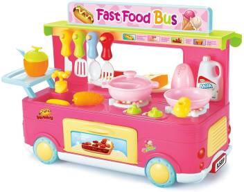 Baybee Play Fast Food Bus Kitchen Set Kitchen Sets Of Kids