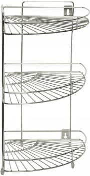 Confiado 100% stainless steel kitchen corner rack Steel Wall Shelf