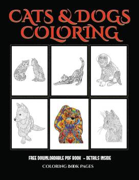 Dog Coloring Book For Adults || COLORING-PAGES-PRINTABLE.COM | 352x272