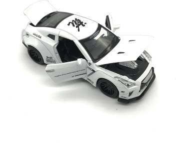 Emob White 1:32 Die Cast Metal Body Mini Auto Luxury Car Toy with Light and  Sound Effects