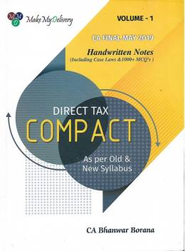 Ca-Final, Direct Tax Compact Handwritten Notes By Ca Bhanwar