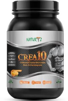 NATURYZ CREA10 Creatine supplement-3G Micronized Creatine, 5G Amino, 20G  Fast Acting Carbs Creatine
