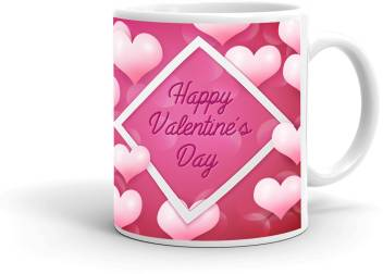 Mugkin Happy Valentine Day Printed For Valentine Day Gift Valentines Gift For Girls Gift For Boyfriend White23 Ceramic Coffee Mug Price In India Buy Mugkin Happy Valentine Day Printed For Valentine