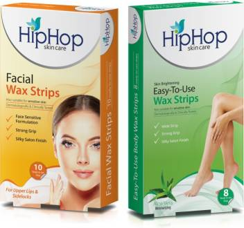 Hip Hop Combo Pack Facial Hair Removal Body Wax Strips Aloe