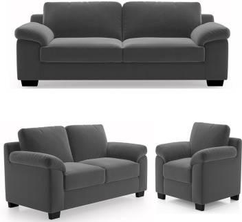 Enjoyable Gioteak Cambodia Fabric 3 2 1 Grey Sofa Set Pabps2019 Chair Design Images Pabps2019Com