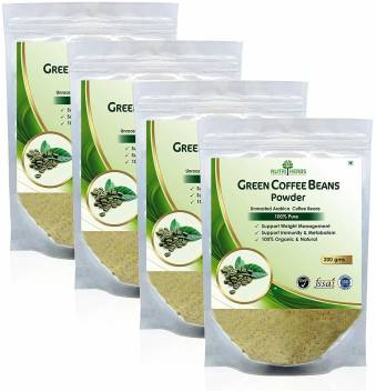 Nutriherbs Green Coffee Beans Powder 200gm Pack Of 4 Instant