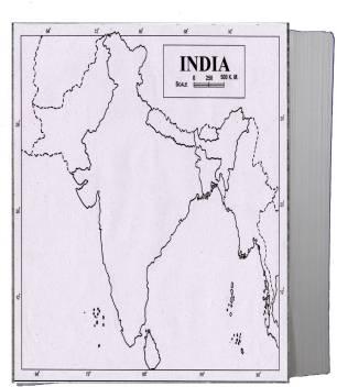 map of india physical blank Flipkart Com Craftwaft Physical Map Of India Blank A4 Project map of india physical blank