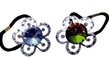 Dressy Silver Rhinestone Crystal Ponytail Holder Hair Elastic Tie Wedding Prom