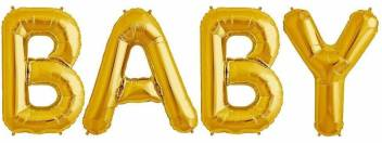 Baby Shower Letter Balloons.House Of Quirk Solid Baby Shower Decorations Balloons 16 Inch Gold Large Baby Letter Balloons Cute For Baby Shower Party Decorations Kids Birthday