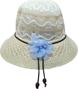 983742bf0427f9 MISMIL Girl & Women Summer cap Round beach hat Sun Protection caps for Girls  Beige Head
