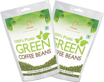 Vihado 100 Pure And Natural Green Coffee Beans Pack Of 2