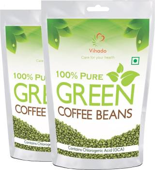 Vihado Pure Arabica Green Coffee Beans 100g Pack Of 2 Instant