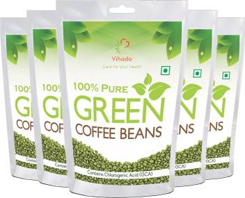 Vihado Pure Arabica Green Coffee Beans 500g Pack Of 5 Instant