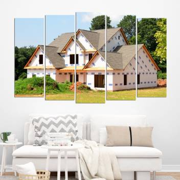Coloriffy Multiple Frames Beautiful House Wall Painting For Living Room Bedroom Office Hotels Drawing Room Split Painting Of 5 130cm X 76cm Digital Reprint 30 Inch X 52 Inch Painting Price