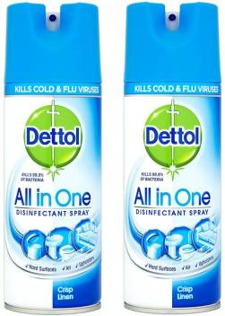 Dettol All In One Disinfectant Spray Crisp Linen 400ml Pack Of 2