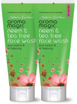 Aroma Magic Pack of 2 Neem & Tea Tree (50 ml) Face Wash  (50 ml)