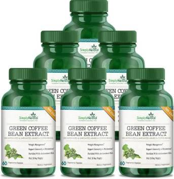 Simply Herbal Green Coffee Bean Extract Pure 50 Gca 800 Mg 60