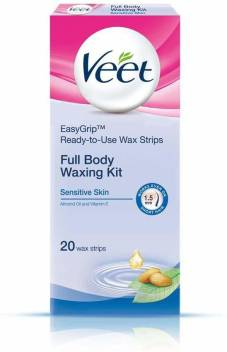 Veet Veet Full Body Waxing Kit Sensitive Skin 20 Strips