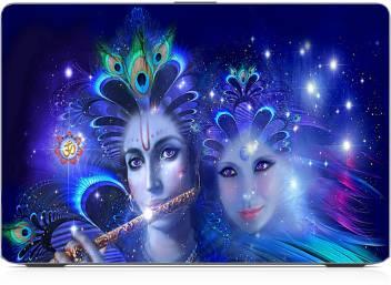 radha krishna wallpaper exclusive high quality laptop decal original