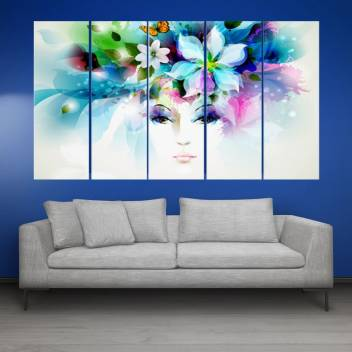 Kyara Arts Beautiful Modern Art 95 Wall Paintings In Multiple Frames For Living Room Bedrooms Wooden Framed Digital Painting 50inchx30inch Digital Reprint 30 Inch X 50 Inch Painting Price In India