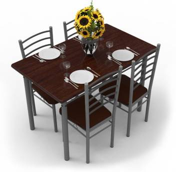 reputable site 98cf3 1cfa3 Forzza Ivy Metal 4 Seater Dining Table