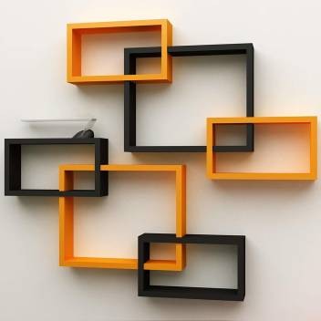 Wall Decoration Shelf Rack Set