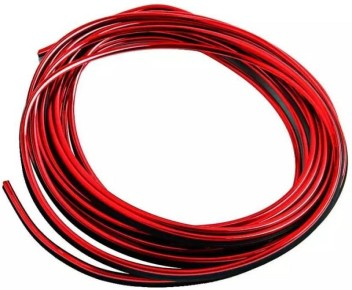 RED 5M FLEXIBLE TRIM FOR CAR INTERIOR EXTERIOR MOULDING STRIP DECORATIVE LINE P2