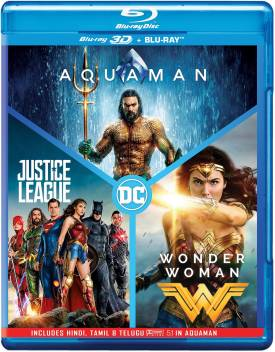 DC 3 Movies Collection: Aquaman + Wonder Woman + Justice